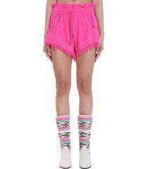 isabel marant talapiz shorts in fuxia polyester