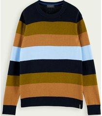 scotch & soda classic wool cotton-blend pullover