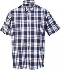 camisa fantasía premium manga corta azul marino kotting