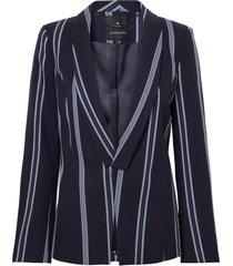 blazer dudalina alfaiataria listrado feminino (azul marinho / navy, 48)