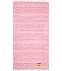 linum home sea breeze cheerful rainbow heart pestemal beach towel bedding