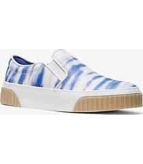 mk sneaker slip-on gertie motivo tie-dye - blu oxford (blu) - michael kors