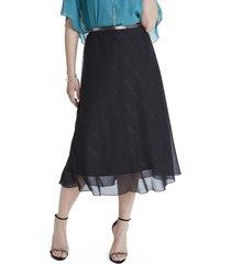 falda con cinturón negro lorenzo di pontti