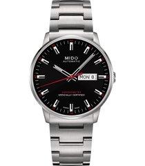 men's mido commander chronometer bracelet watch, 40mm