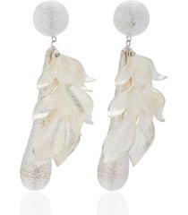 violetta silver earrings
