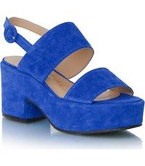 flatform em camurça azul