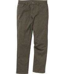 pantaloni elasticizzati classic fit straight (verde) - bpc bonprix collection