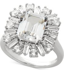 arabella cubic zirconia statement ring in sterling silver