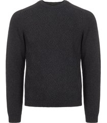 boss green grey ruben jumper with cable structure 50374944-010