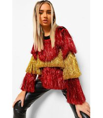 ombre slinger trui, red