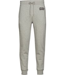logo fleece joggers sweatpants mjukisbyxor grå gap