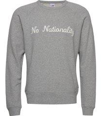 robin sweatshirt 3444 sweat-shirt trui grijs nn07