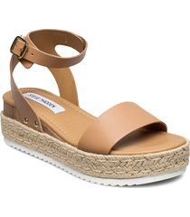chaser sandal sandalette med klack espadrilles brun steve madden