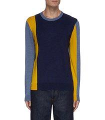 colourblock crewneck sweater