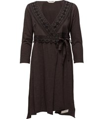 get-a-way l/s dress jurk knielengte grijs odd molly