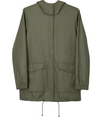 matt & nat demee womens rain jacket, olive