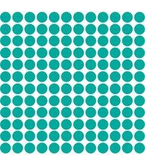 adesivo de parede bolinhas azul turquesa 144un... - azul - dafiti