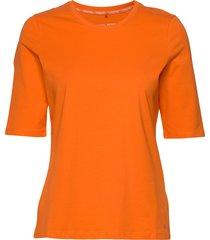 t-shirt 3/4-sleeve r t-shirts & tops short-sleeved orange gerry weber edition