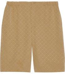 gucci gg supreme loose-fit shorts - neutrals