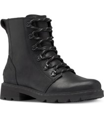 sorel women's lennox lace-up booties women's shoes