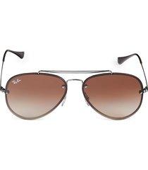 ray-ban women's rb3584n 58mm aviator sunglasses - gunmetal black