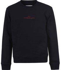 maison margiela reverse logo ribbed sweatshirt