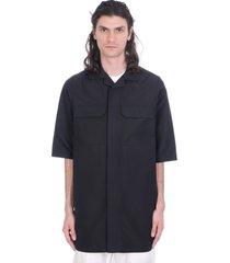 rick owens magnum shirt in black polyester