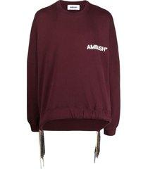 ambush drawstring-hem logo sweatshirt