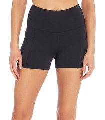 marika women's sky yoga shorties - black x-large spandex