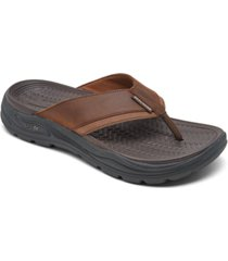 skechers men's arch fit motley sd - malico thong sandals from finish line