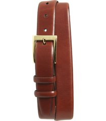 men's torino double buckle leather belt, size 34 - chili