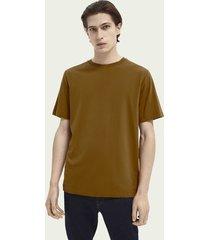 scotch & soda klassiek t-shirt met ronde hals van biologisch katoen