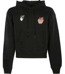 off-white apple over flatlock hoodie
