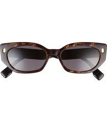fendi 54mm cat eye sunglasses in havana /smoke at nordstrom