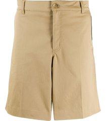givenchy logo tape bermuda shorts - neutrals