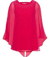 blusa in maglina con strass (fucsia) - bodyflirt boutique