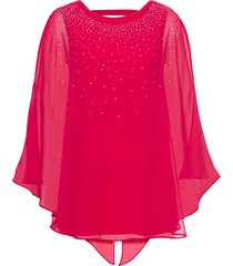 blusa in maglina con strass (fucsia) - bodyflirt boutique