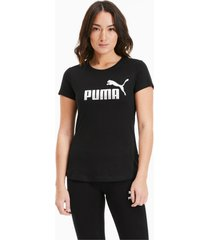 essentials+ metallic t-shirt voor dames, zilver/zwart, maat xs | puma