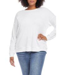plus size women's karen kane pullover, size 0x - white