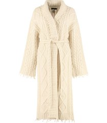alanui cashmere and wool knit coat