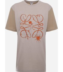 loewe cotton t-shirt with contrasting anagram print