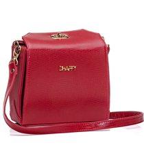 bolsa dhaffy bolsas fecho giratório vermelho