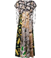 3.1 phillip lim long patchwork-print dress - multicolour