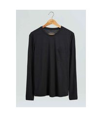 t-shirt osklen rustic pocket e-basics ml ii-preto