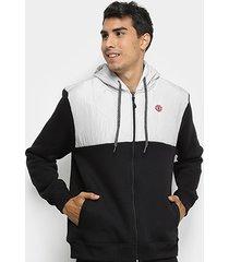 jaqueta moletom element prime sport masculina