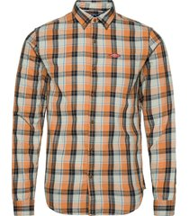 sun faded lumberjack shirt skjorta casual orange superdry