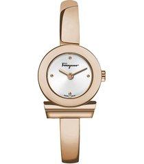 salvatore ferragamo women's gancino stainless steel bangle bracelet watch