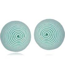 brinco le diamond botão de azul