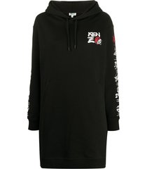 kenzo hoodie dress - black