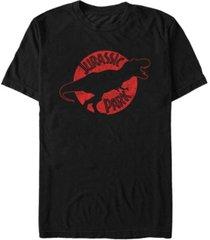 fifth sun jurassic park men's t-rex red outline distressed short sleeve t-shirt